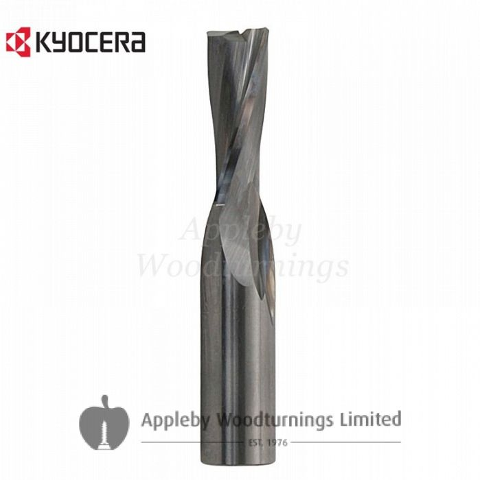 16mm dia x 55mm cut CNC Finishing Spiral Router 2 Flute Negative L/H Unimerco