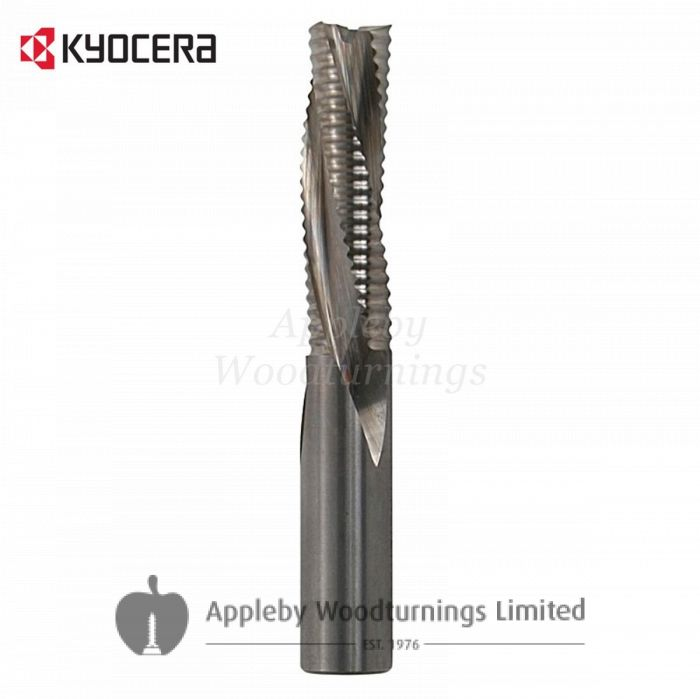 12mm dia x 42mm cut CNC S=12mm Roughing Spiral Router Z=3 Negative R/H Kyocera
