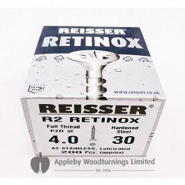 5.0 x 40mm Reisser R2 Woodscrews 200pcs