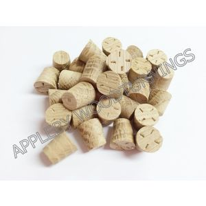 3/8 Inch American White Oak Tapered Wooden Plugs 100pcs
