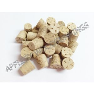9mm American White Oak Tapered Wooden Plugs 100pcs