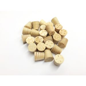 13mm Larch Tapered Wooden Plugs 100pcs supplied by Appleby Woodturnings