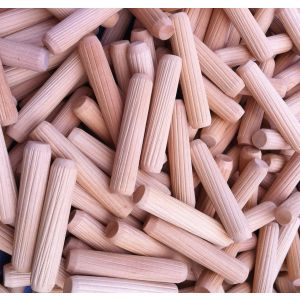 10 x 40mm Premium Hardwood Fluted Dowel Pins 100pcs