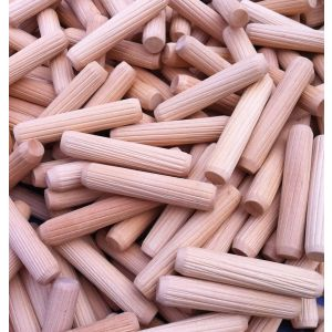 10 x 50mm Premium Hardwood Fluted Dowel Pins 100pcs