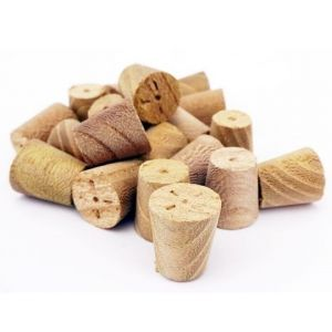 10mm Elm Tapered Wooden Plugs 100pcs