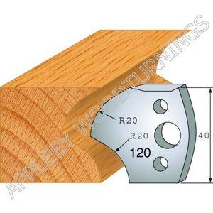 Profile No. 120  40mm Euro Knives, Limitors and Sets