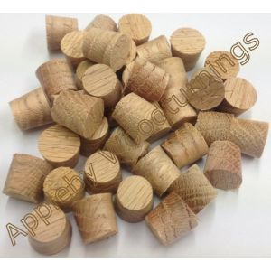 1/2 Inch American Red Oak Tapered Wooden Plugs 100pcs