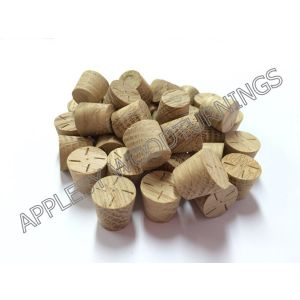 12mm American White Oak Tapered Wooden Plugs 100pcs