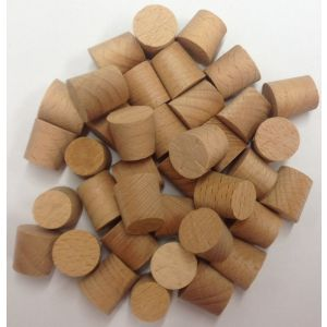 12mm Dark/St Beech Tapered Wooden Plugs 100pcs