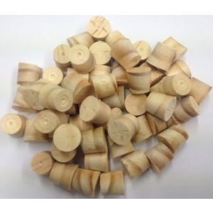 "1/2"" N/Zealand Pine Tapered Wooden Plugs 100pcs"