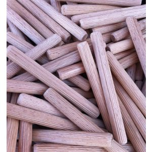 12 x 115mm Premium Hardwood Fluted Dowel Pins 100pcs