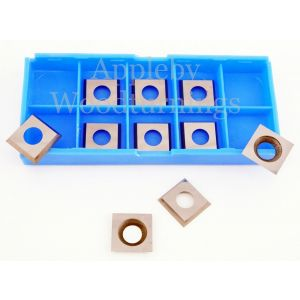 13.6 x 13.6 x 2mm Reversible Carbide Tips 10pcs ( 1 box )