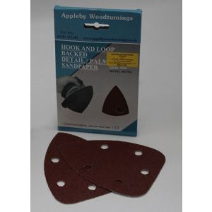 140mm Detail/Palm Sanding Pads - 10 pack - 80 Grit