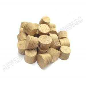 14mm American White Oak Tapered Wooden Plugs 100pcs