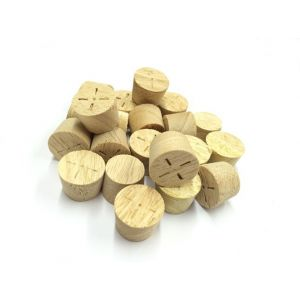 32mm Idigbo Tapered Wooden Plugs 100pcs