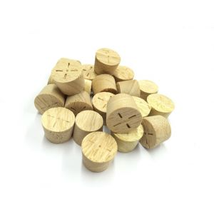 Appleby Woodturnings Proud Suppliers Of 23mm Idigbo Tapered Wooden Plugs 100pcs