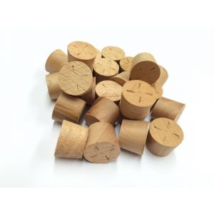 28mm Cherry Tapered Wooden Plugs 100pcs