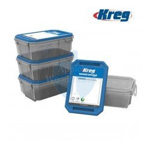 Kreg Small Hardware Screw Storage Containers 4 Pack KSS-S
