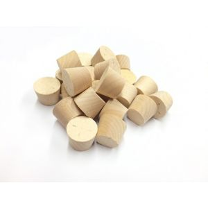 34mm MAPLE Tapered Wooden Plugs 100pcs