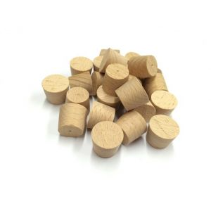 9mm Steamed Beech Tapered Wooden Plugs 100pcs