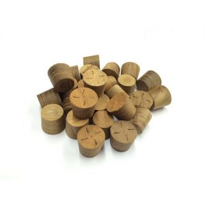 14mm Teak Tapered Wooden Plugs 100pcs
