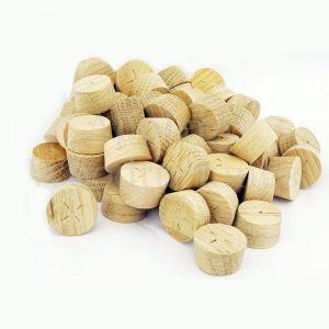 16mm European Oak Tapered Wooden Plugs 100pcs
