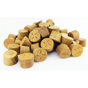 34mm Teak Tapered Wooden Plugs 100pcs