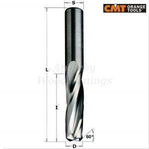 CMT 14 x 50 x 110mm CNC Spy Hole Lockcase Spiral Without chip Breaker 3 Flute 191.143.11