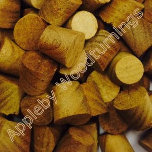 "1/2"" Afromosia Tapered Wooden Plugs 100pcs"