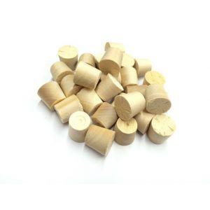 34mm Birch Tapered Wooden Plugs 100pcs