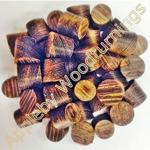 17mm Wenge Tapered Wooden Plugs 100pcs