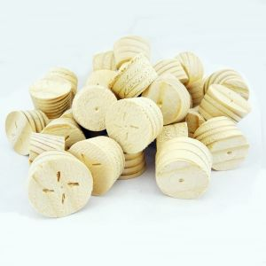 34mm Spruce Tapered Wooden Plugs 100pcs