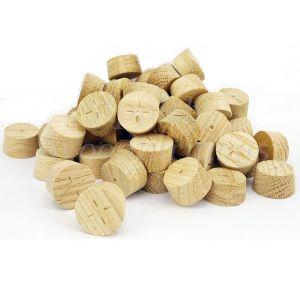 21mm European Oak Tapered Wooden Plugs 100pcs