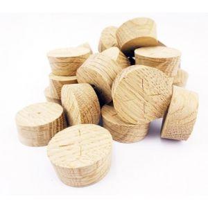 27mm English Oak Tapered Wooden Plugs 100pcs