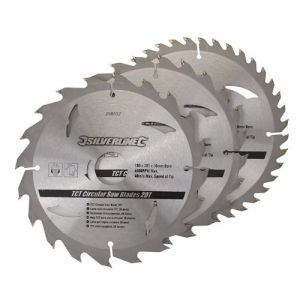 3 pack 180mm  TCT Circular Saw Blades to suit  SKIL 5740, 5590
