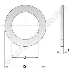 30mm - 15.87mm Saw Blade Reducing Bush 299.211.00
