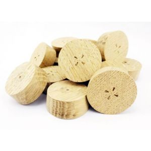 32mm English Oak Tapered Wooden Plugs 100pcs