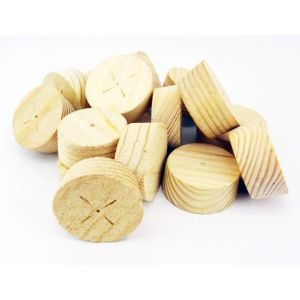 50mm Joinery Grade Redwood Tapered Wooden Plugs 100pcs