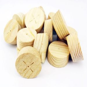 64mm Softwood / Pine Tapered Wooden Plugs 100pcs
