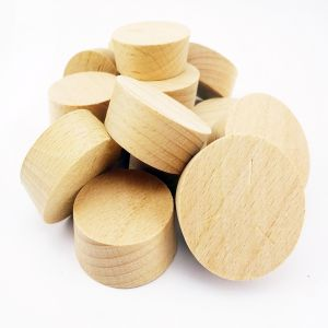 24mm Steamed Beech Tapered Wooden Plugs 100pcs supplied by Appleby Woodturnings