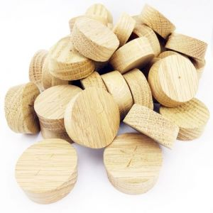 35mm American White Oak Tapered Wooden Plugs 100pcs