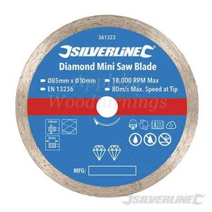 85mm Silverline Diamond Mini Circular Saw Blade For Titan/Worx Saws 361323