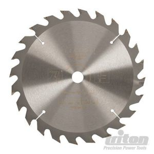 190mm Z=24 ATB Id=30 Triton Table / Rip Saw Blade With Reduction Rings 577375
