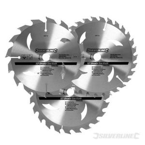 3 Pack 160mm TCT Circular Saw Blades to suit BOSCH GSK24V
