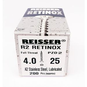 Reisser R2 Retinox Stainless Steel Wood Screws 4.0mm x 30mm 200pcs