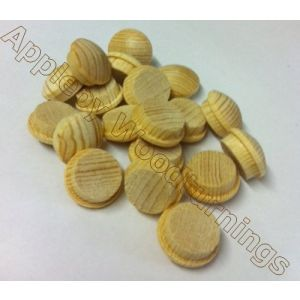 7/8 Inch Softwood Button Head Mushroom Screw Cover Plugs