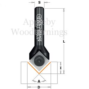 """CMT Reversible Knife 90 deg Engraver S=1/4"""""""