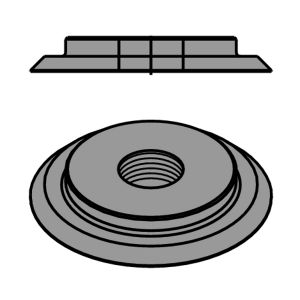 CMT M4 Threaded Nut Ring for 694.001 CMT Cutter Heads