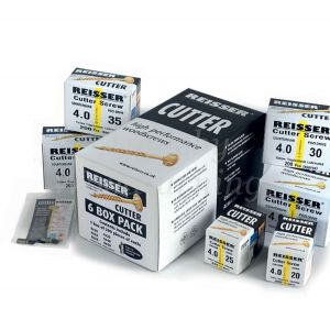 Reisser CUTTER 6 Box Trial Pack 1,200pc Wood Screws + 2 Pozi Bits