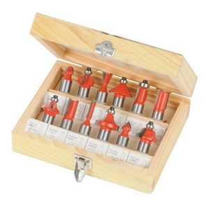 "Silverline TCT 1/2"" Router Bit Set (12pcs)  763555"
